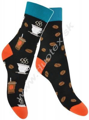Pánske ponožky Skarpol-080-kava