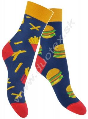 Veselé ponožky Skarpol-080-hamburger