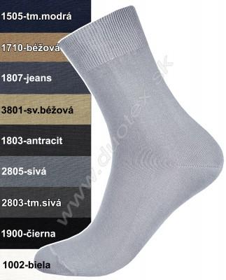 Pánske štandardné jednofarebné ponožky • Duotex fe9b68dc3c6