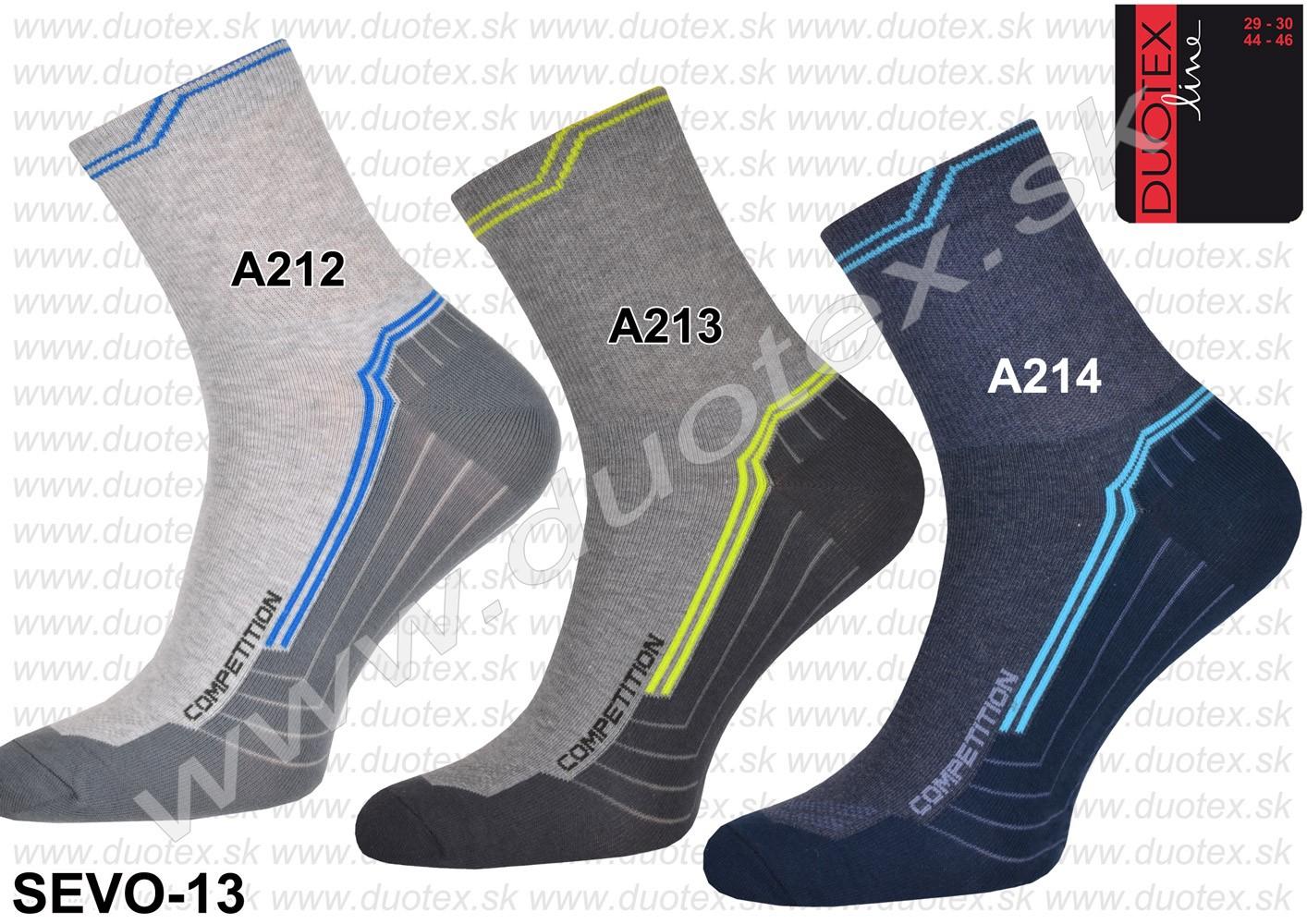ae8514fd1 pánske športové elastické vzorované ponožky s nižším lýtkom