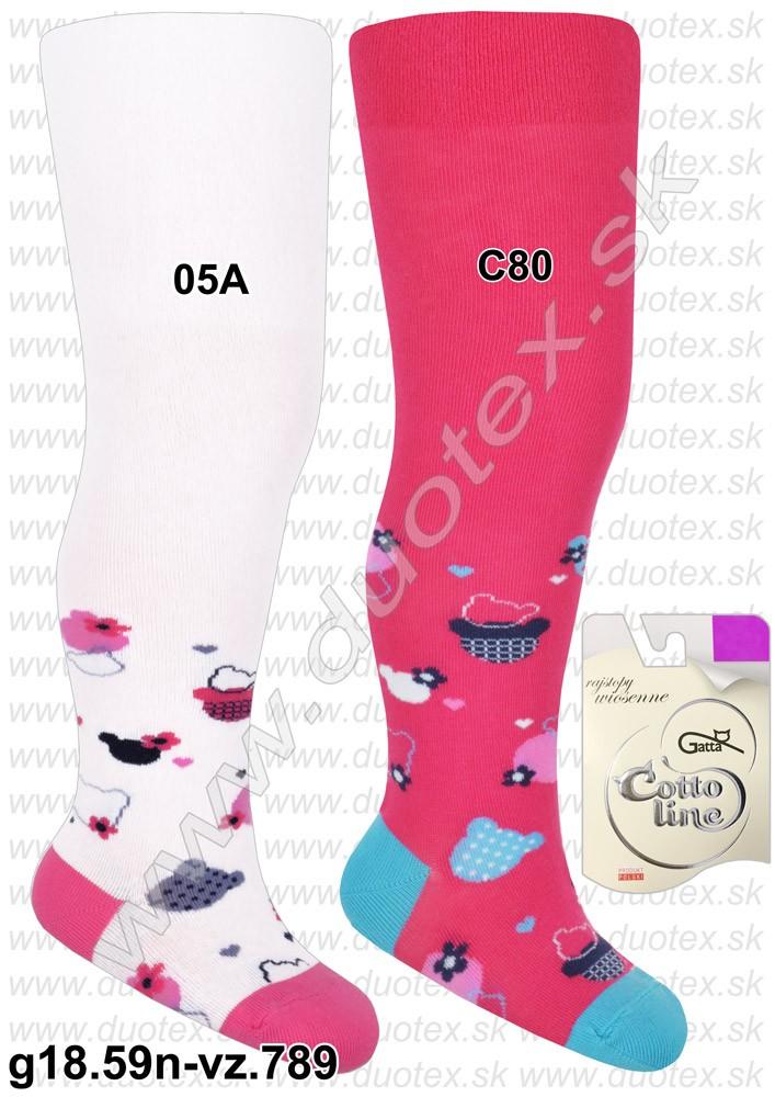 381c46cad902 kojenecké a detské vzorované bavlnené pančuchové nohavice z jemnejšieho  (tenšieho) úpletu