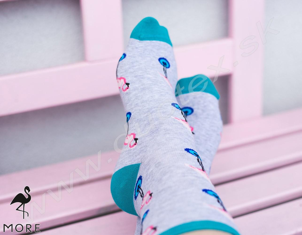 a9afdfbc12e hladké elastické ponožky s výrazným vzorom s pohodlným elastickým  preveseným lemom