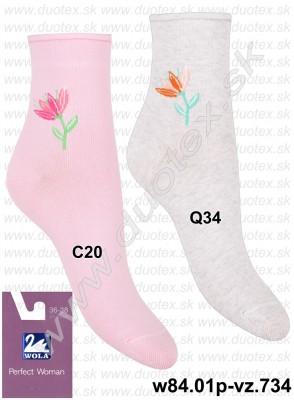 Dámske ponožky w84.01p-vz.734