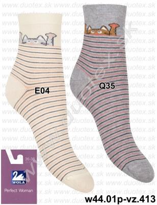 Vzorované ponožky w44.01p-vz.413