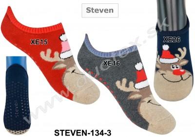 Froté ponožky s ABS Steven-134-3