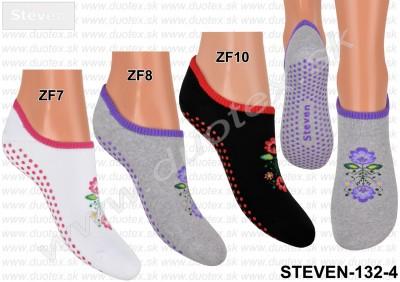Froté ponožky s ABS Steven-132-4
