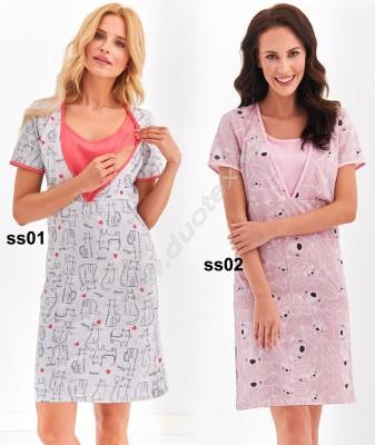 Tehotenská nočná košeľa Linda901-0