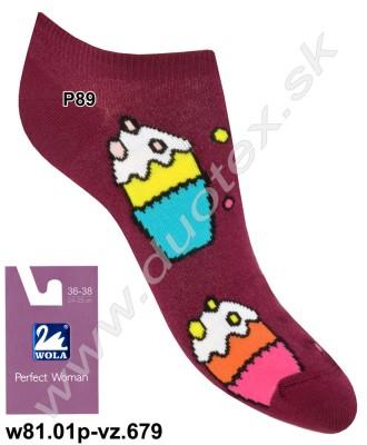 Dámske ponožky w81.01p-vz.679