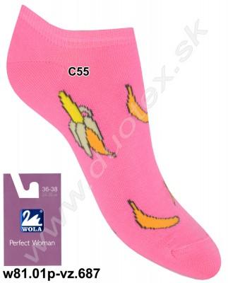 Dámske ponožky w81.01p-vz.687