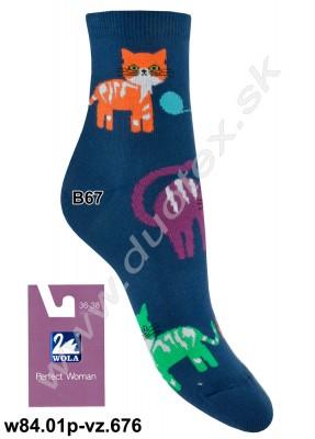 Dámske ponožky w84.01p-vz.676