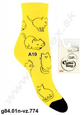 Dámske ponožky g84.01n-vz.774
