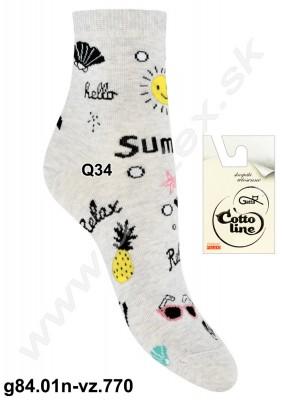 Dámske ponožky g84.01n-vz.770