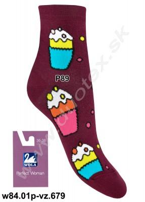 Dámske ponožky w84.01p-vz.679