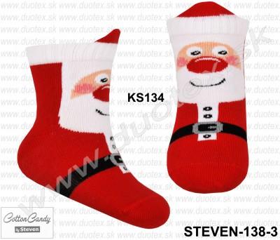 Vianočné froté ponožky Steven-138-3