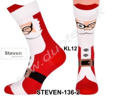 Vianočné ponožky Steven-136-2
