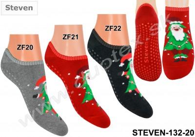 Froté ponožky s ABS Steven-132-20
