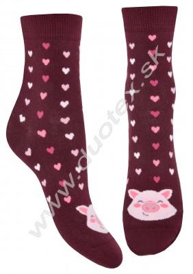 Vzorované ponožky w44.01p-vz.284